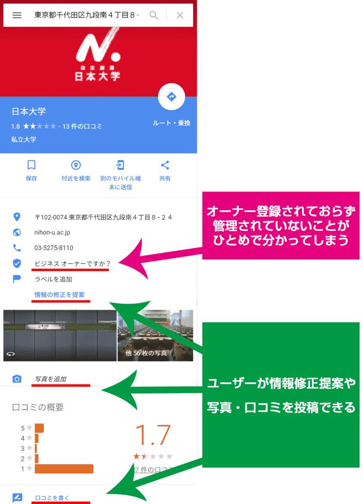 日本大学_Googleマップ
