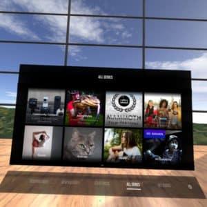 Oculus Go(オキュラス ゴー)Amazeメニュー画面