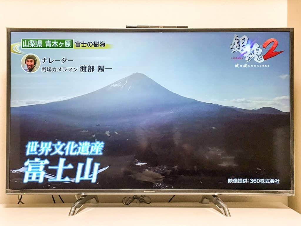 テレビ東京_昼めし旅_青木ヶ原樹海_ドローン空撮