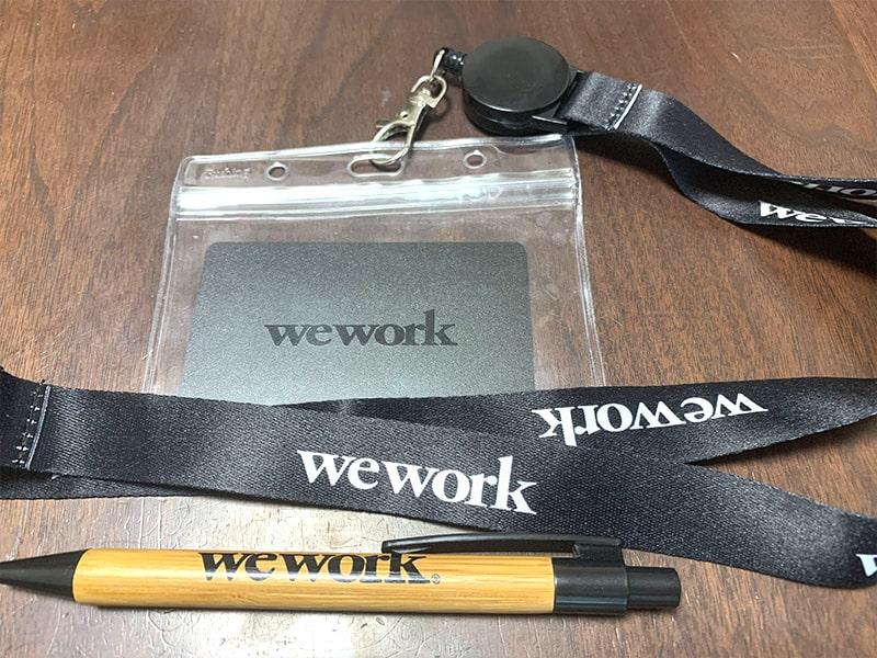 WeWorkキーカード