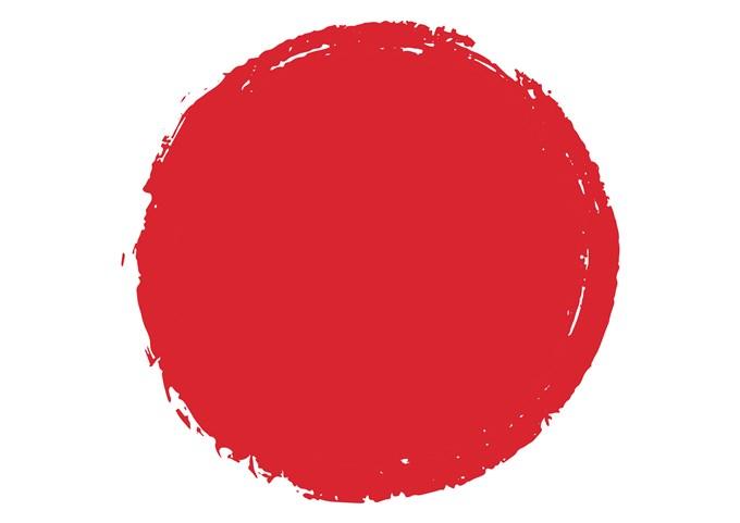 手書きの赤い丸